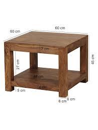 finebuy couchtisch massiv holz 60 x 60 cm wohnzimmer tisch