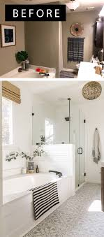 reveal boho farmhouse master bathroom remodel with decor
