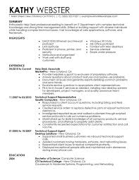 Help Desk Resume Sample