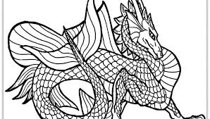 Real Dragon Coloring Pages To Print Drawing For Adults Animals Realistic Fire Breathing