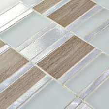tile sheets frosted white glass mosaics silver