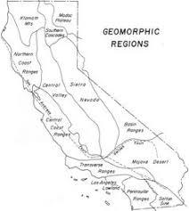 California Geomorphic Regions Map Color Handout Page Quiz 1