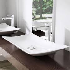 Trough Bathroom Sink With Two Faucets Canada by Bathrooms Design Low Profile Bathroom Vanity Sink Faucet