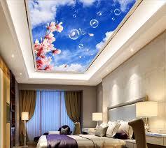 benutzerdefinierte tapetenwandbilder orchidee wolkendecke 3d wandbilder wallpaper für wohnzimmer decke hause dekoration