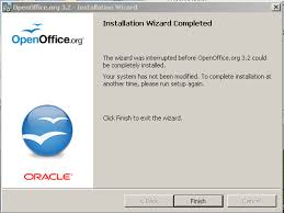 OOo won t plete installation Missing MSI View topic