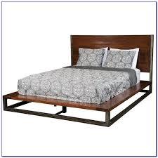 Wood Platform Bed Frame Queen by Metal Platform Bed Frame Queen Bedroom Home Design Ideas