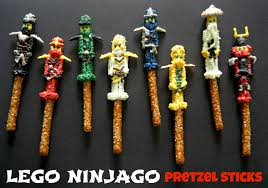 Halloween Pretzel Sticks by Sugar Swings Serve Some Lego Ninjago Pretzel Sticks