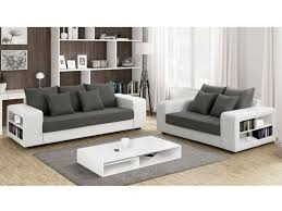 canapé tissu blanc canapé tissu et simili avec rangement gris et blanc lisalmi