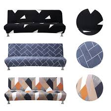 2019 Stretch Sofa Bed Cover Full Folding Armless Elastic Futon Slipcover  Home Textile Accessories Couch Cover Linen Chair Slipcover Rent Chair  Covers ...