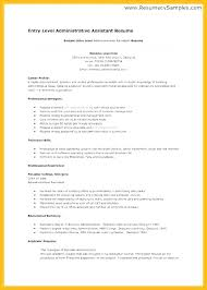 Entry Level Administrative Assistant Cover Letter Examples Resume Medical Objective