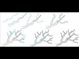 How To Draw A Tree Branches Simple Step By Step Drawing Tutorial