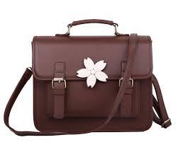 buenocn preppy style vintage backpack pu leather women shoulder
