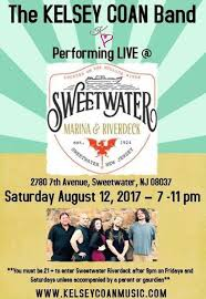 sweetwater river deck events the kelsey coan band live at sweetwater marina riverdeck