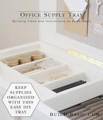 DIY Office Supply Tray