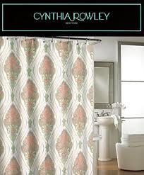 Cynthia Rowley Jacobean Floral Curtains by Cynthia Rowley Ornate Medallion Fabric Shower Curtain 72 Inch By