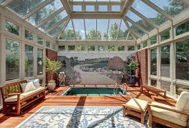 Indoor Sunroom Furniture Traditional With Hot Tub Wooden Garden Benches
