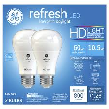 ge led 60w equivalent daylight high definition a19 dimmable led