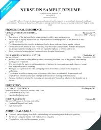 Sample Resume For Nurses With Experience Registered