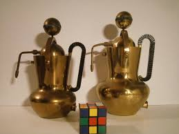 Midcentury BRASS Italian Electric Espresso Cappuccino Makers 1940s 50s