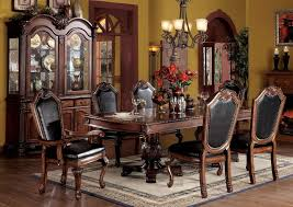 Elegant Dining Rooms Sets Wood Table Formal Room With China Cabinet Round