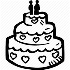 cake engagement heart love mariage wedding wedding cake icon