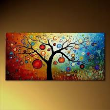2018 Handicraft Modern Abstract Huge Art Tree Canvas Oil Painting Large From Jing018 4923