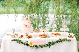 Dessert Table Jen Huang Poppies Posies Via Southern Weddings Inspiration Board Top Row L R Peach Pocket Outdoor Ceremony Area Jesi Haackpeach Jam