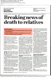 PDF Breaking News Of Death To Relatives