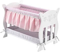 You & Me Baby So Sweet Wooden Bassinet Furniture for 16 inch Doll