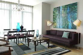 aqua and brown living room modern house