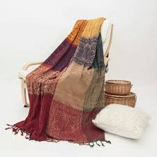 couverture canapé bohemian chenille tapestry sofa blanket chenille throw with