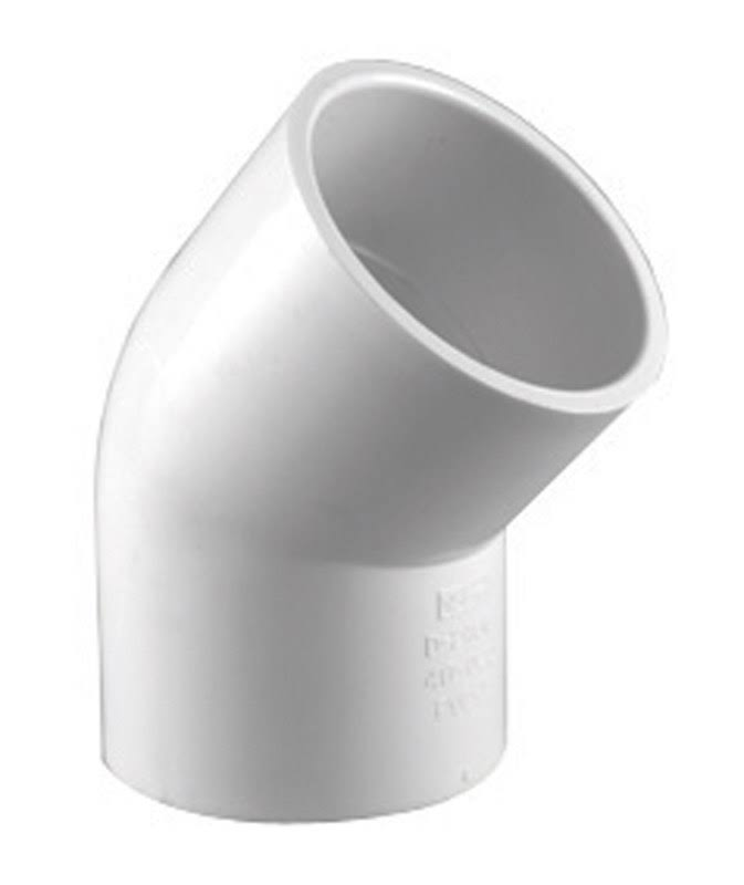 Charlotte PVC Schedule 40 Pipe Elbow - 1/2""