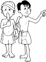Summer Clothes Kids Holiday Coloring Pages