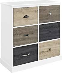 amazon com ameriwood home mercer 6 door storage cabinet with