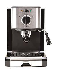 Capresso 11604 Pump Espresso And Cappuccino Machine EC100 Black Stainless