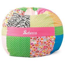 Monogrammed Bean Bag Chairs Kids Superior