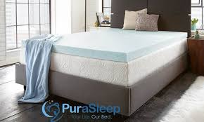 Cooling Bed Topper by 74 Off On Purasleep Mattress Topper Groupon Goods