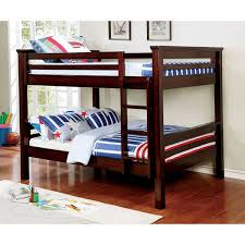 American Freight Bunk Beds by Furniture Of America Marcie Full Full Bunk Bed In Dark Walnut