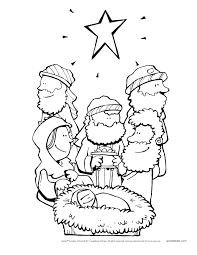 Bible Story Coloring Pages For Kids Archives With Christmas