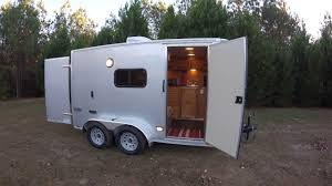 100 Custom Travel Trailers For Sale Cargo Trailer Conversion To Camper YouTube