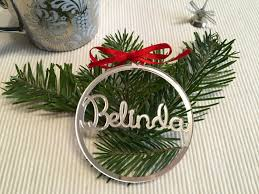 Christmas Tree Name Baubles by Personalized Name Gift Tags Personalised Christmas Baubles Custom