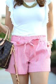 loft striped tie waist shorts medicine u0026 manicures