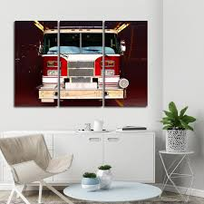 Fire Truck Multi Panel Canvas Wall Art | ElephantStock