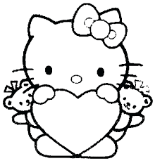Disney Valentines Day Coloring Pages Printable For Kids To Print Out Hello Kitty Heart Free Sh