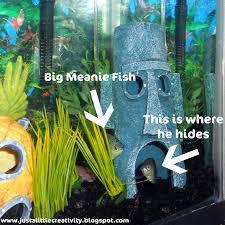 Spongebob Fish Tank Decor Set the blue bully just a little creativity