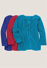 Chenille Bed Jacket by Zip Front Velour Robe