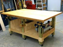 Complete Finish All Your Garage Woodworking Bench On Wheels Work Ideas To And