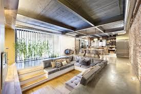 100 Loft Style Home Living Room Sunken Sofa Open Plan In Terrassa