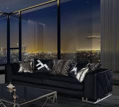 casa padrino luxus wohnzimmer sofa mit dekorativen kissen schwarz silber 237 x 96 x h 66 cm luxus wohnzimmer möbel
