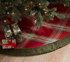 Blake Plaid And Velvet Tree Skirt Potterybarn